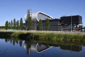 Incineration plant  waste management union of the Territoire de Belfort  Rhone-Rhine canal  Bourogne  Territoire de Belfort  France