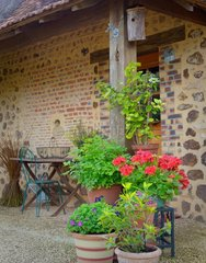 Steps of a stone farmhouse Perigord - France