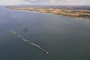 Artificial harbor at Omaha Beach - Normandy France