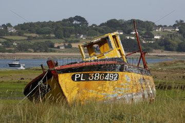 Boatyard of Beg Ar Vilin in Plougrescant  Brittany  France