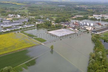 Industrial area and flood - Champagne-Ardennes France