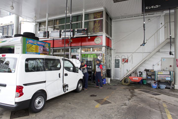 petrol station in Tokyo