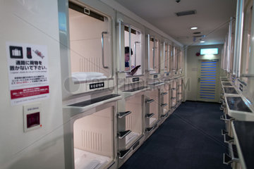 capsule hotel in Japan