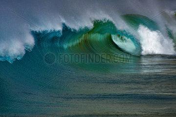 Waves breaking  Playa de La Tejita  Island of Tenerife  Canary Islands.