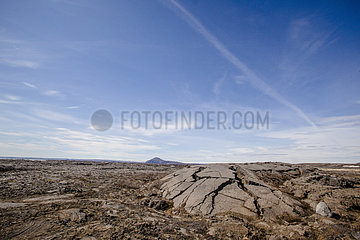 Cracked lava dome  Iceland