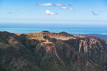 Aerial view on nickel mine in the central chain in New Caledonia.