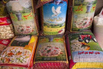 rice bags in Kunduz  Afghanistan