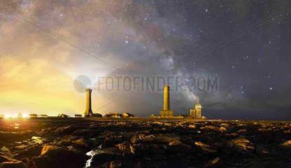 Astronomical twilight to Penmarc - Brittany France