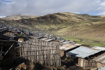 Village in the Highlands - Simien Mountains Ethiopia