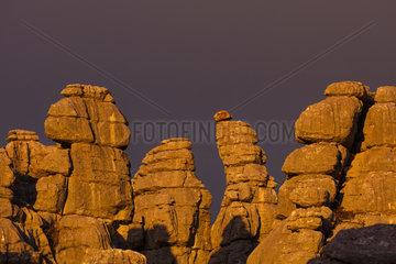 Karst landscape  Torcal de Antequera Nature Reserve  Málaga  Andalusia  Spain