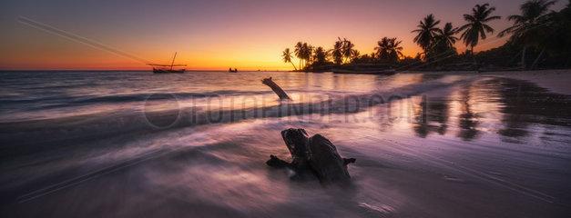 Sunset on Nosy Iranja  a beautiful islet of Madagascar