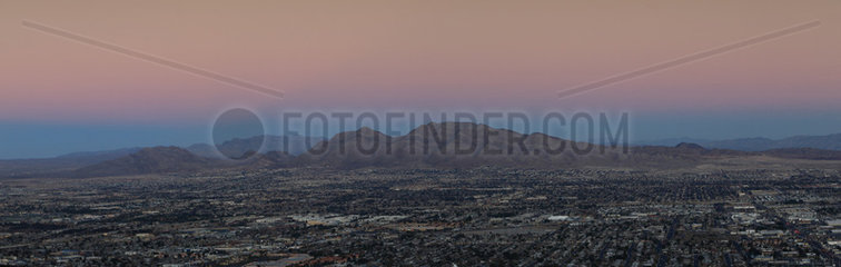Las Vegas at dusk  Nevada  USA