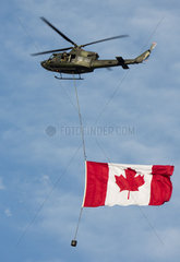 Canadian army helicopter