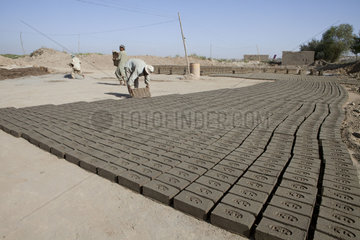 Brick factory in Kunduz  Afghanistan.