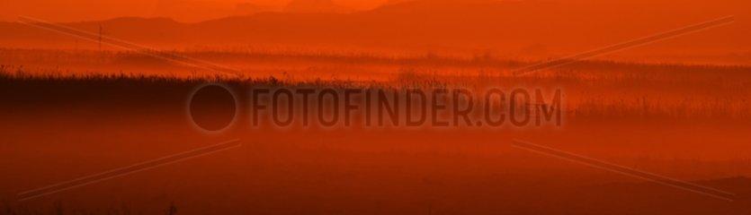 Salthouse Marshes at sunrise - North Norfolk Midlands UK