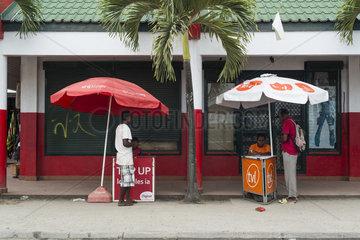 Telephone recharge vendors  Port Vila  Efate Island. Vanuatu.