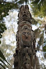 Carved trunk  Efate Island. Vanuatu