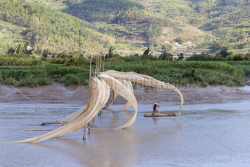 Drying of the sails of boats with the wind  Xiapu County  Fujiang Province  China