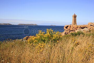 Mean Ruz Lighthouse - Pink Granite Coast Brittany France