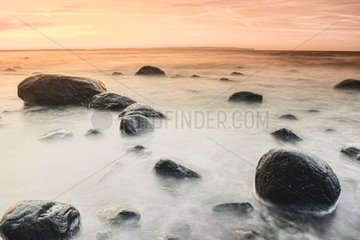Sunset on the island of Ruegen - Baltic Sea Germany