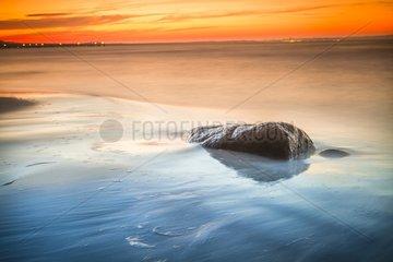 Sunset on the island of Ruegen - Baltic Sea Germany