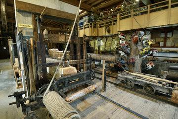 Haut Fer saw  sawmill  museum Espace des metiers du Bois Et du Patrimoine in Labaroche  Haut Rhin  France