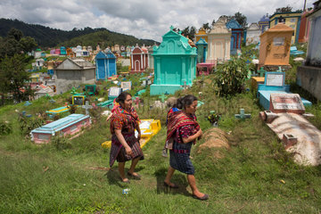 The cemetery at chichicastenango  guatamala