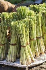Vegetable bundles in Kalabahi market - Alor Indonesia