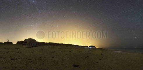 Auriga above a bunker - Brittany France