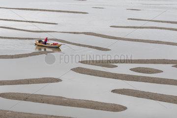 Fish catching  nets in open sea  Xiapu County  Fujiang Province  China