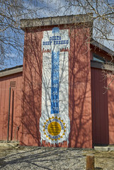 Thermometer depicting extreme temperatures in Delta Junction  Alaska