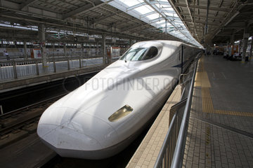 Hi-speed train in Osaka