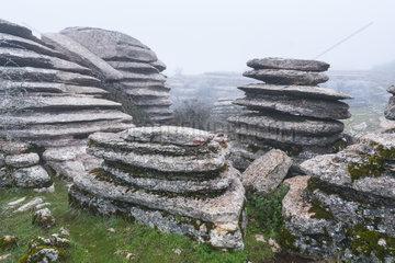 Karst landscape  Torcal de Antequera Nature Reserve  Málaga  Andalusia  Spain  Europe