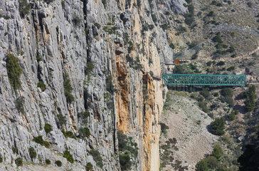 Caminito del Rey  Gorge of the Gaitanes (Desfiladero de los Gaitanes)  Álora  Málaga  Andalusia  Spain