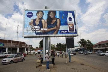 billboard in Zimbabwe