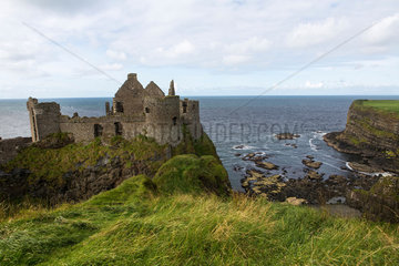 Dunluce castle  abandonded in 1939