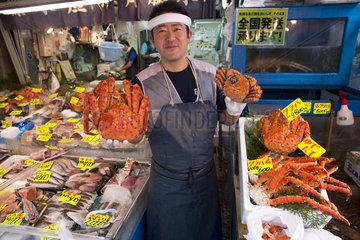 food market in Tokyo