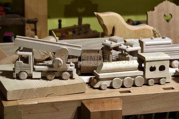 Wooden toys  museum Espace des metiers du Bois Et du Patrimoine in Labaroche  Haut Rhin  France
