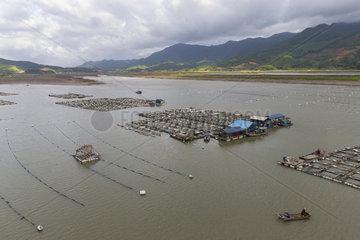 Fish farm  Xiapu County  Fujiang Province  China