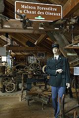 ONF agent  ranger  museum Espace des metiers du Bois Et du Patrimoine in Labaroche  Haut Rhin  France