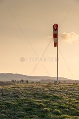 Windsock at sunset
