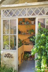 Vintage greenhouse in a garden