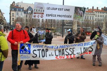 National event against the shooting of wolves.16 January 2016  Lyon  France