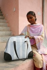 Bag made from recycled plastic bags India
