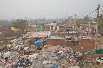 The area recyclers of plastic bags New Delhi India