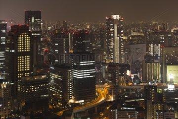 Business district - Osaka Japan