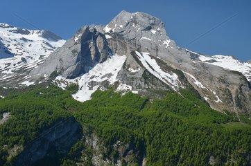 Limestone massif of the Pic du Ger - Val d'Ossau Pyrénées France