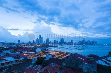 Skyline from Old Town Panama City Panama