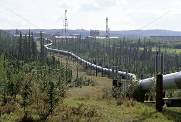 Oil pipeline across Alaska