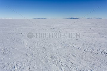 Ice and Discovery Mountain - Ross Sea Antarctic